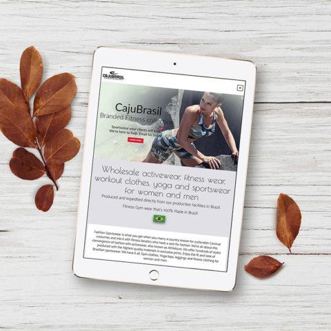 Natasa Lagou - Projects, Brazilian Fashion Fitness web design & graphic design