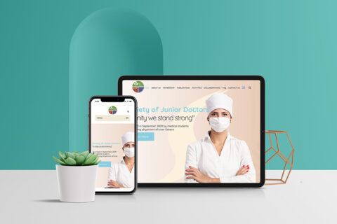 Natasa Lagou - Projects, Society of Junior Doctors (SNI) Web and Graphic Design